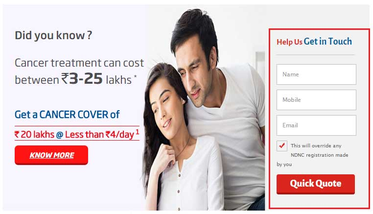 Get HDFC Life Cancer Care of Rs. 20 Lakhs