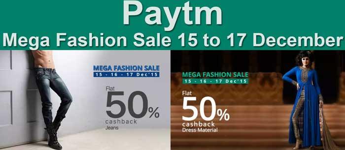 Paytm Mega Fashion Sale Offer