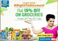 Discount on All Grocery Products + Assured Freebie