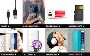 Mobile Accessories Upto 80% Off on Top Smartphones Brands
