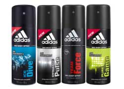 Adidas Assorted Pack of 4 Deodorants for Men