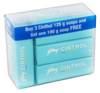 Cinthol Cool Soap 125 gm x 3 + 100 gm Free + Extra Cashback