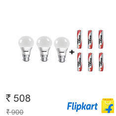 Flipkart is offering Eveready LED