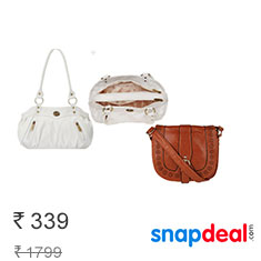 Fostelo White Shoulder Bags Flat 82% Off at Rs. 339 Only buy now