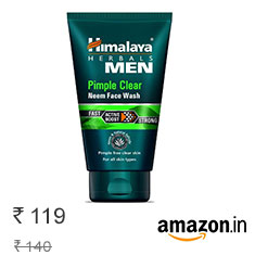 Himalaya Men Pimple Clear Neem Face Wash, 100 ml at 15% Off Buy Now