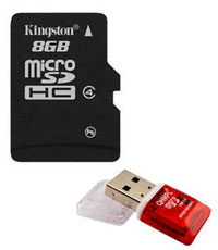 Kingston MicroSD 8 GB Class 4 Memory Card + Free MicroSD Card Reader