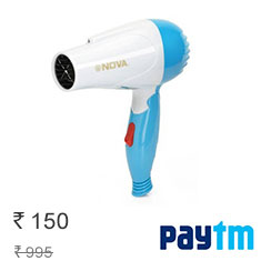 Nova NHD-2840 Hair Dryer For Women (White & Blue) at 25% Off Buy Now