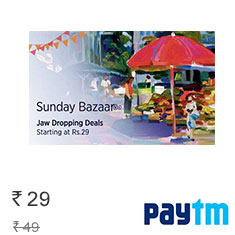 Paytm Sunday Bazaar Checkout Latest Deals