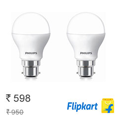 Philips 9 W LED Bulb White, Pack of 2 Buy Now