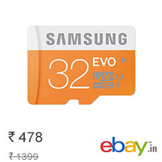 Samsung 32 GB Class 10 Memory Card 8% Off + Free Gift Buy Now
