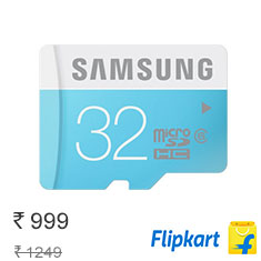 Samsung 32 GB Micro SDHC Class 6 24MB-s Memory Card at 20% Off Buy Now