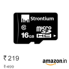 Strontium 16 GB Memory Card Class 10 at Lowest Online Price