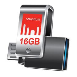 Strontium 16 GB Nitro Plus OTG 3.0 USB Drive