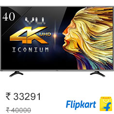 Vu 102cm (40) Ultra HD (4K) Smart LED TV at 7% Off + Extra 10% Off Buy Now