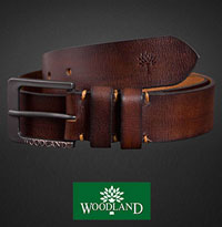 Woodland Mens Leather Belt With Huge Discount