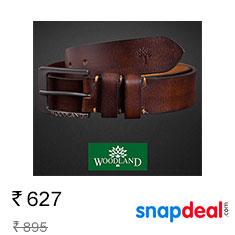 Woodland Mens Leather Belt