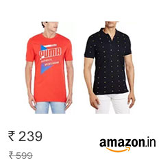 Amazon India Offering Branded Men T-Shirts