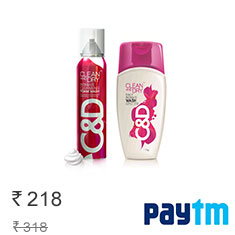 Clean And Dry Combo (Intimate Wash And Foam Wash) Buy Now