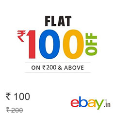 Ebay Get Rs. 100 Off on Purchase of Rs. 200