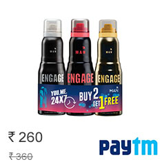 Engage Deo Sprays Frost and Rush With Fuzz Free Pack Of 3 Buy Now
