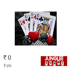 Get Free Rs. 25 Bonus Only at Jungleerummy