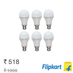 Gs 15 W LED Bulb White, Pack Of 6 at 74% Discount + Free Delivery Buy Now