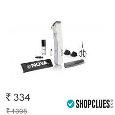 Nova Pro Skin Advance Nht 1047 W Trimmer For Men (White) Buy Now