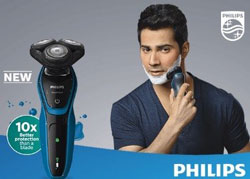 Philips Aqua Touch Shaver S505006 Shaver For Men Black Blue