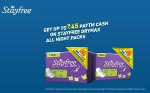 Paytm Cashback Stayfree Offer