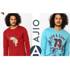 Ajio Graphic Printed t-shirts