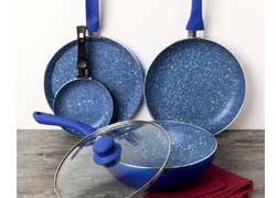 Wonderchef Non Stick Blue Cookware Set