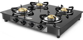 steel manual gas stove 4 burners
