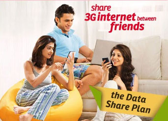 Airtel 3G or 4G Data Sharing