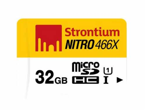 Strontium Nitro 32 GB 70Mbs UHS-1 Class 10 MicroSDHC Memory Card Deal