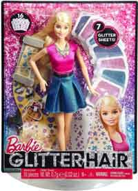 barbie glitter hair design doll