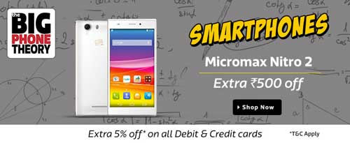 Flipkart Big Phone Theory Sale Micromax Note 2 at Extra Rs. 500