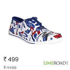 Blue Canvas Sneakers New Arrivals at 58% Off Buy Now
