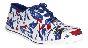 Blue Canvas Sneakers New Arrivals at 58% Off