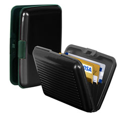 Chevron Slim Credit Cash Card Holder Secure Wallet Money Holder For Men & Women Multi Colour at 89% Off