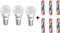 Eveready 9 W LED 6500K Cool Day Light Combo Bulb at 40% Off