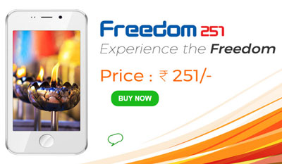 Freedom 251 Newly Launched Smartphone at Super Affordable Price
