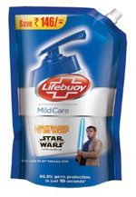 Lifebuoy Handwash Mid Care 900 ml (Star Wars Pack) at 38% Off