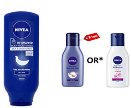 NIVEA In Shower Skin Conditioner Body Milk 250 ml + Free Nivea Body Lotion 35 ml