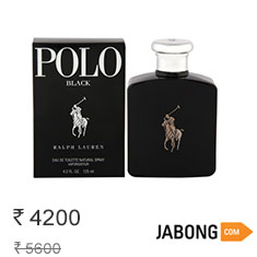 Ralph Lauren Polo Black Eau de Toilette 125 ml at 25% Off Buy Now Limited Stock Offer