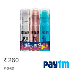 Engage Deo Sprays Spell and Drizzle With O'Whiff Free Pack Of 3 Buy Now