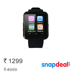 Epresent Black Digital Smart Watch