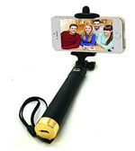 Essot Inbuilt Bluetooth Selfie Stick for Apple iPhone, Android Mobiles, Cameras (Yellow)