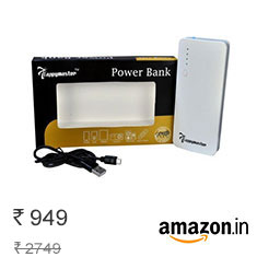 Lappymaster 13000mAh Power Bank Rs 949