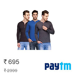TSX Multi Colour Cotton Pack Of 3 T-Shirts at 55% Off + Extra Cashback Buy Now