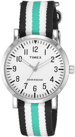 timex omg analog black dial unisex watch